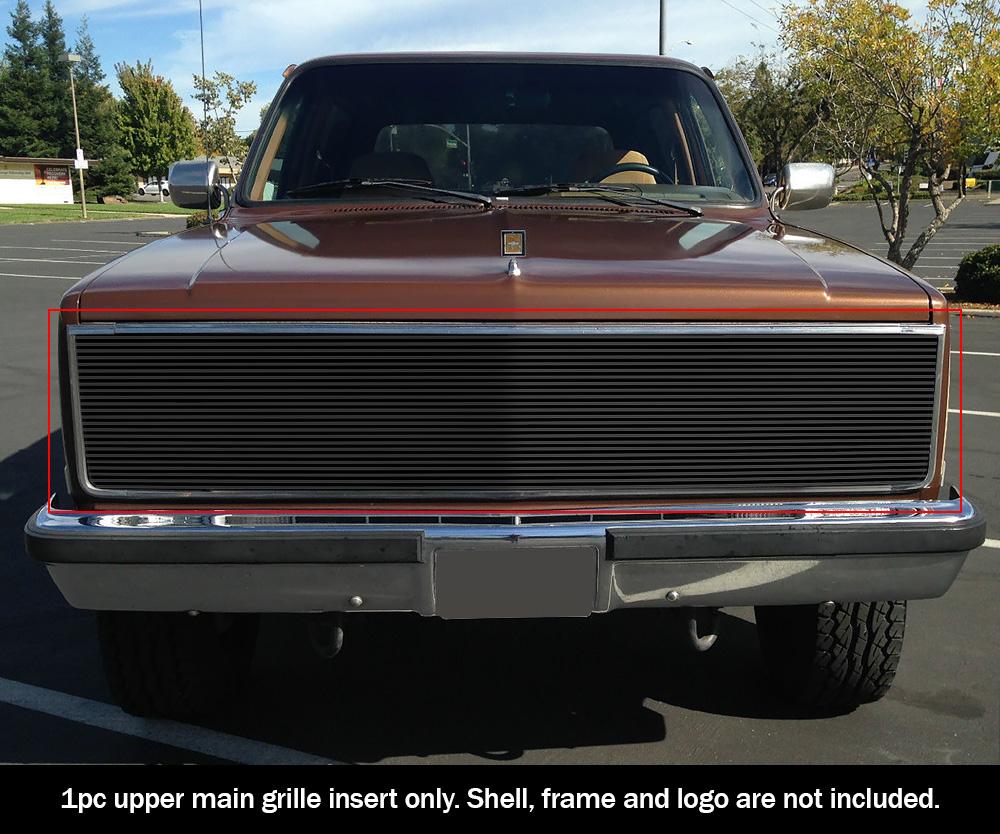 medium resolution of fits 81 87 chevy gmc pickup suburban blazer jimmy phantom black billet grille