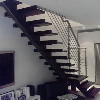 Mono Stringer Stairs Single Stringer Metal Staircase   Metal Staircase For Sale   Prefab   Outdoor   Contemporary   Tangga   Steel Structure