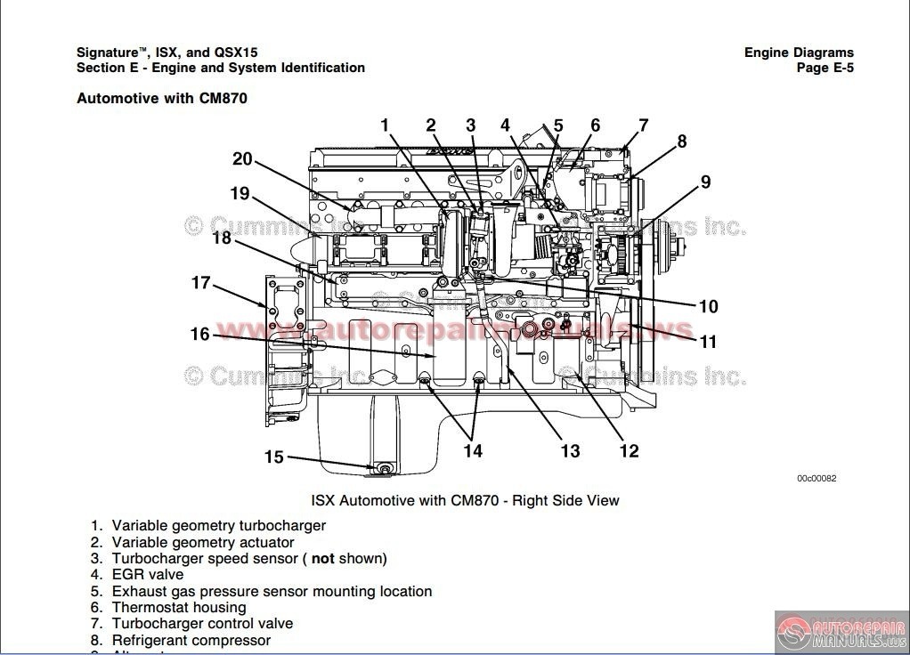 cummins n14 plus engine diagram