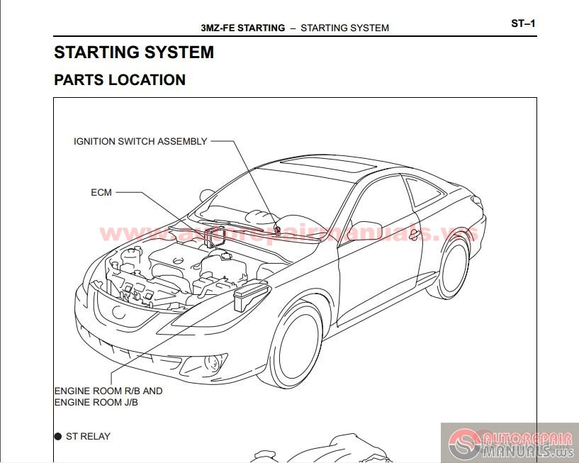 Toyota Camry Solara 2002-2009's Factory Repair Manual