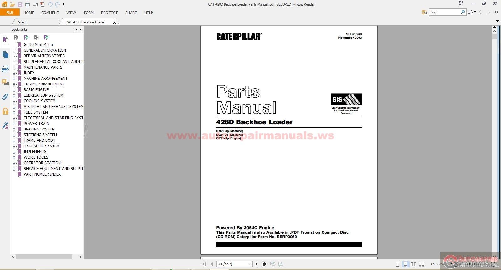hight resolution of cat d backhoe loader parts manual auto repair manual forum cat 428d backhoe loader parts manual