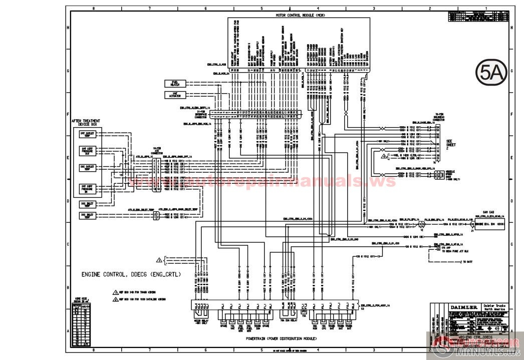 freightliner bus wiring diagram