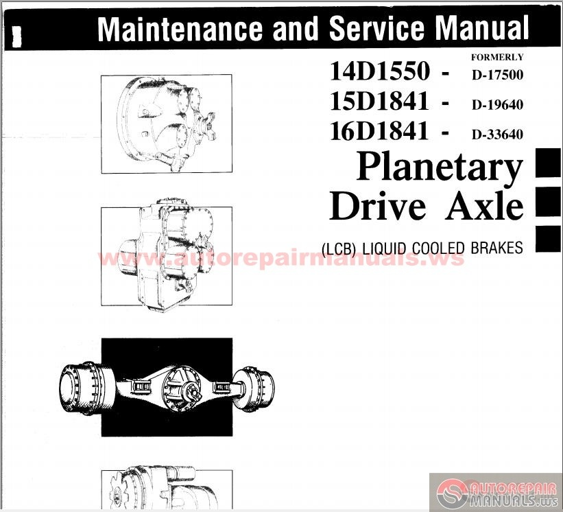 Clark 14,15,16D Series Planetary Drive Axle Maintenance
