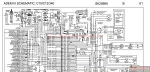 Peterbilt  ADEM III SCHEMATIC, C10 C12 & 340  SK28989