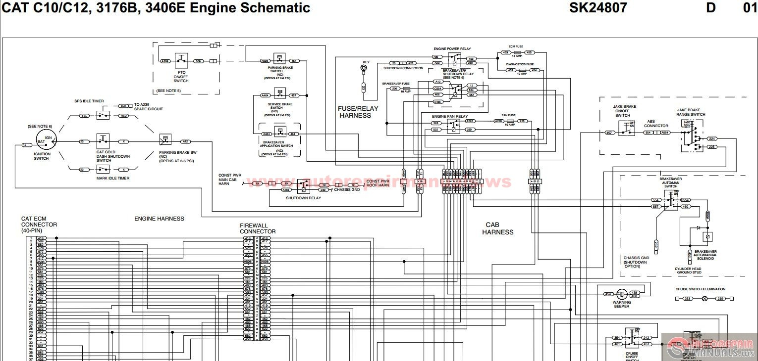 hight resolution of caterpillar motor wiring schematic another blog about wiring diagram u2022 rh emmascott co bronco ecm wire