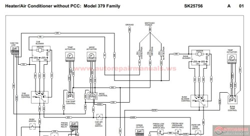 small resolution of peterbilt pb379 heater air conditioner without pcc peterbilt 379 hvac diagram peterbilt 379 hvac diagram