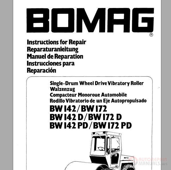 Bomag Instructions for repair BW142,BW142D,BW142PD,BW172