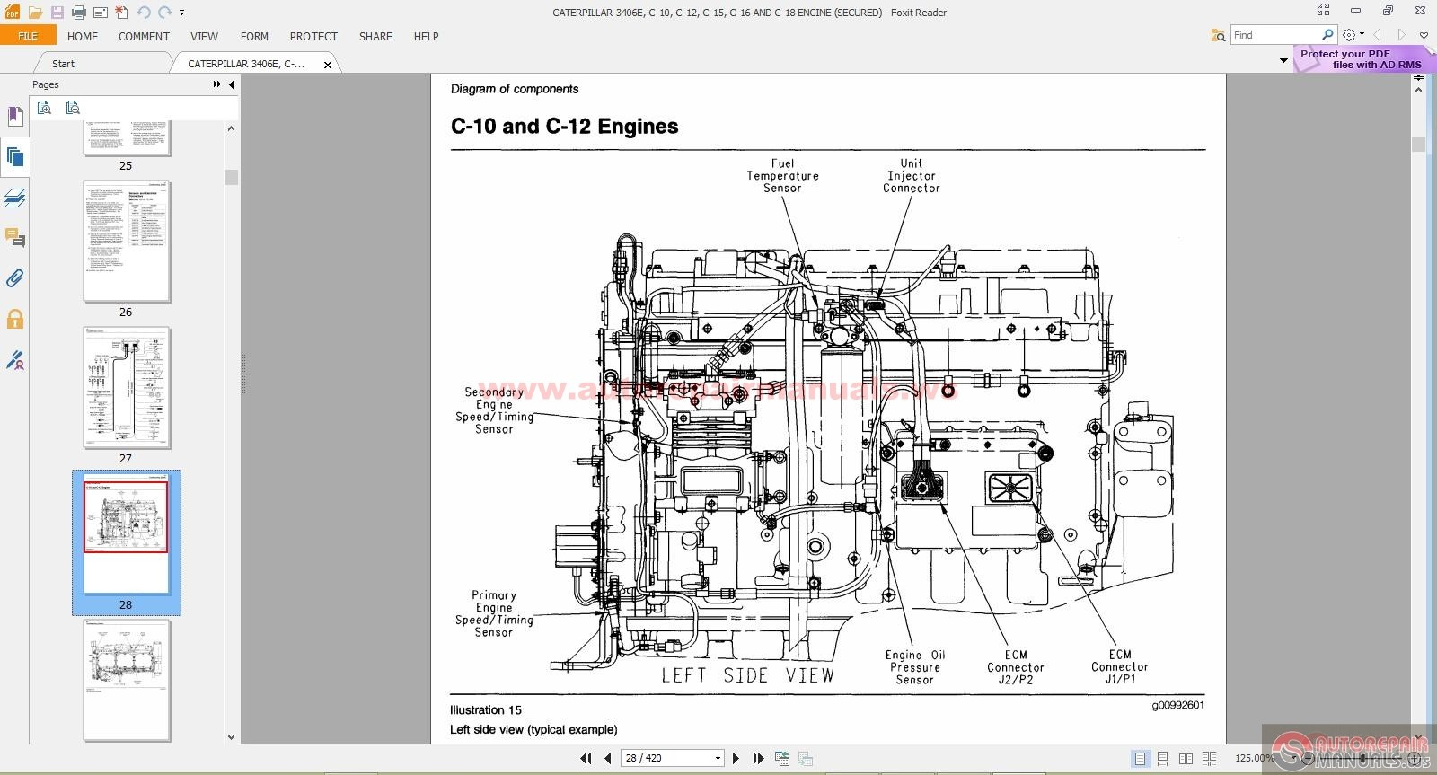 Caterpillar C12 Engine Specs Cooling Diagram