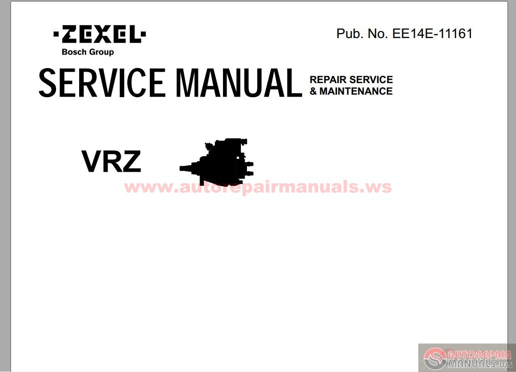 Zexel VRZ Repair Service & Maintenance Manual parts 1