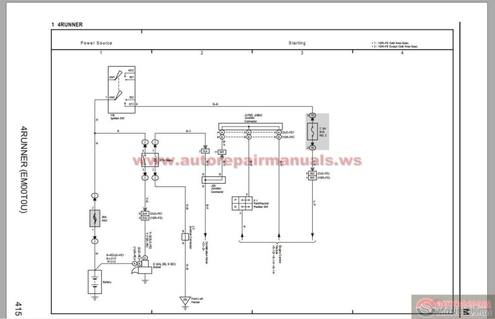 medium resolution of toyota 4 runner 2006 electrical system wiring diagram 2000 toyota four runner 2004 toyota four runner