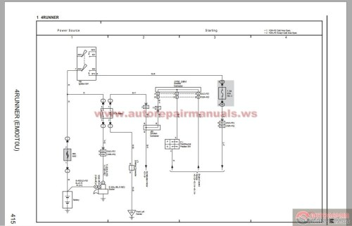small resolution of toyota 4 runner 2006 electrical system wiring diagram 2000 toyota four runner 2004 toyota four runner
