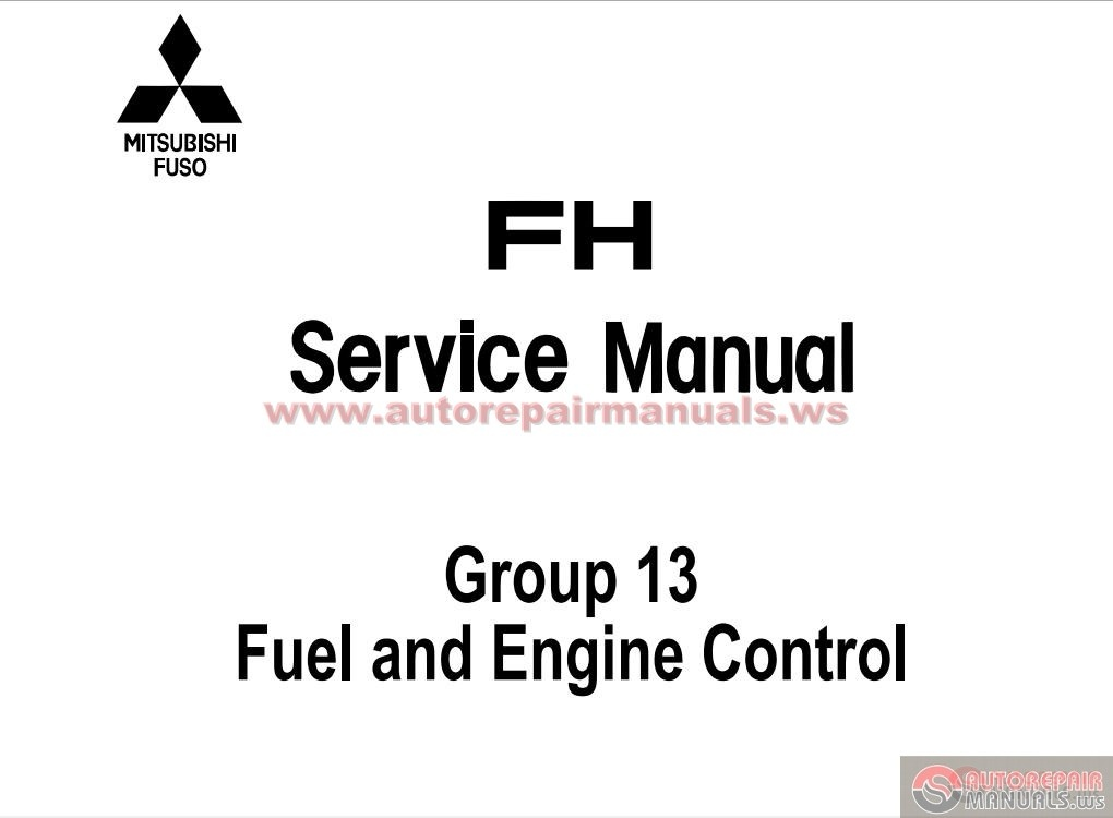 Mitsubishi Canter Workshop Manual Free Download