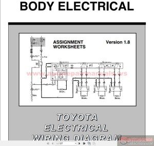 Toyota Electrical Wiring Diagram Workbook | Auto Repair