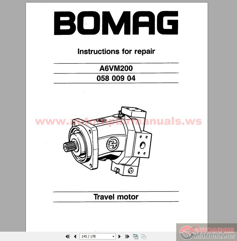 Keygen Autorepairmanuals.ws: Bomag Instructions for repair