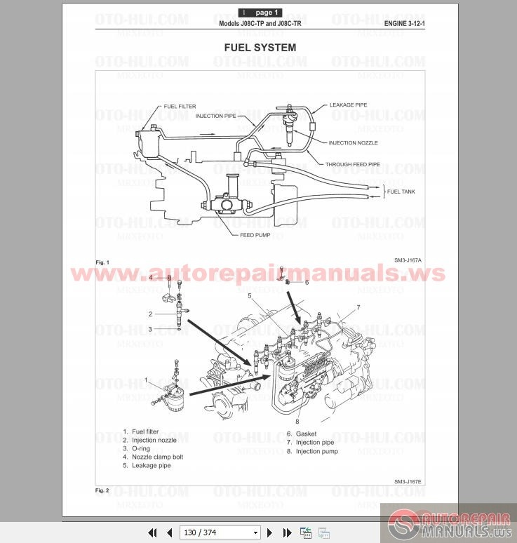 Hino P11c-up Engine Service and Repair Workshop Manual