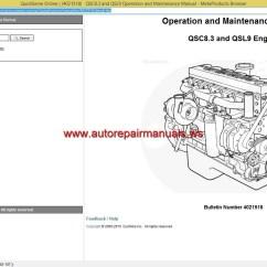 Wiring Diagram Qsm11 Toyota Yaris 2000 Radio Cummins Qsc8 3 And Qsl9 Service Manual Auto Repair