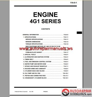 Mitsubishi 4G15 Engine Manual | Auto Repair Manual Forum  Heavy Equipment Forums  Download