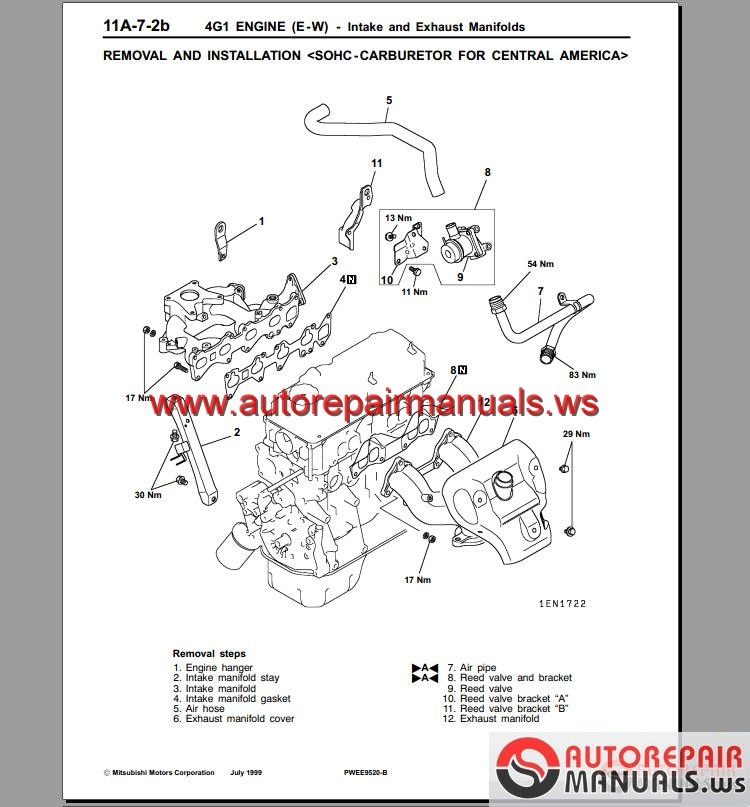Keygen Autorepairmanuals.ws: Mitsubishi 4G15 Engine Manual