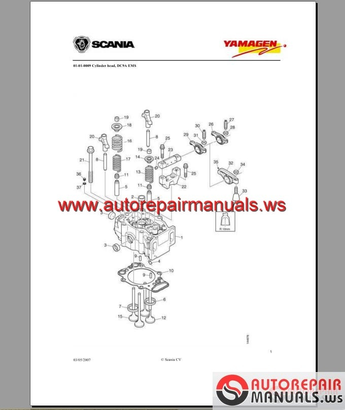 Engine Yanmar YS-DC9 Parts Catalog Generator Yanmar 300