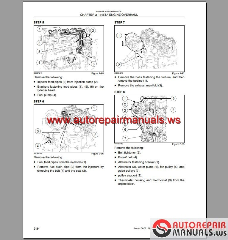 Case Loader Backhoe 580M Series 3 Shop Manual