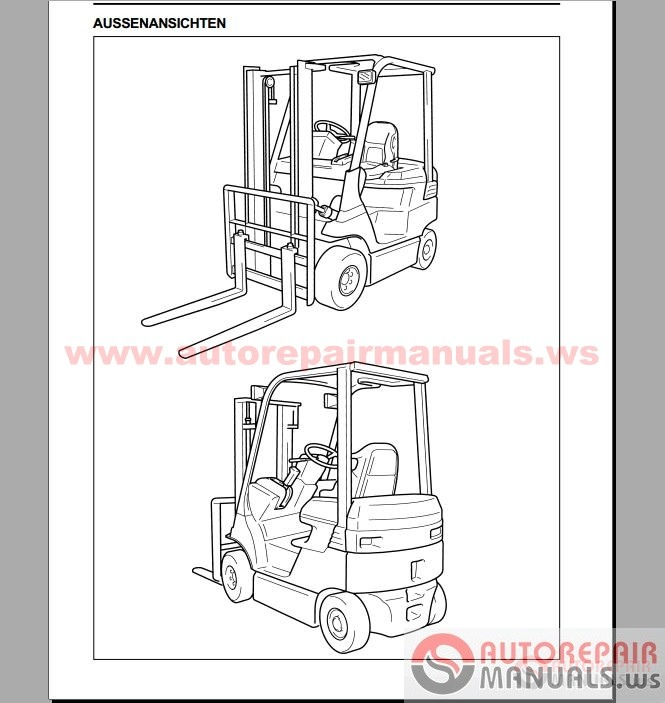 Auto Repair Manuals: Toyota Forklift, Industrial Equipment