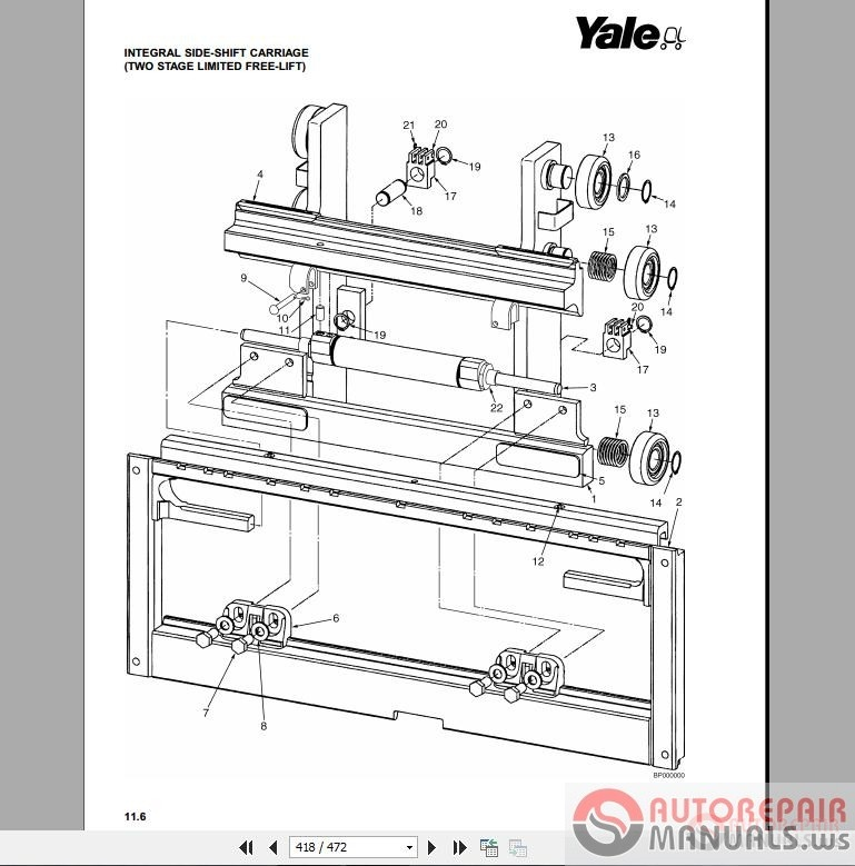 Auto Repair Manuals: Yale Forklift Parts Manuals New Models