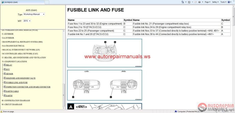 medium resolution of 2015 mitsubishi outlander wiring diagram