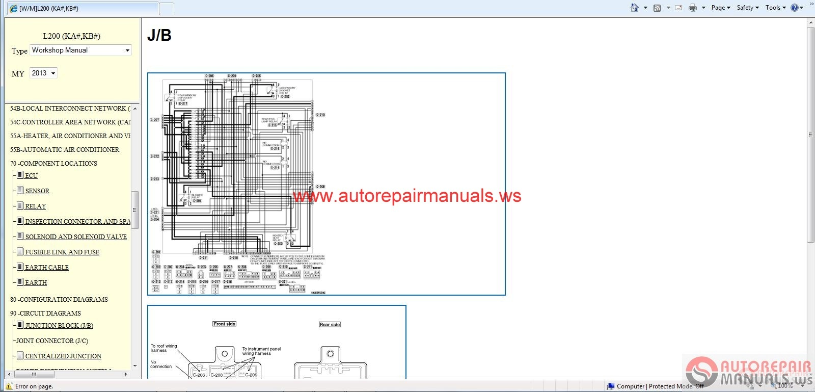pajero 4m40 wiring diagram hot water heater thermostat mitsubishi l200 2013 workshop manual auto repair