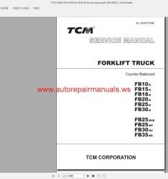 tcm forklift fb10 fb30 8 fb35 8s service manual auto repairmore the random threads same [ 1600 x 859 Pixel ]