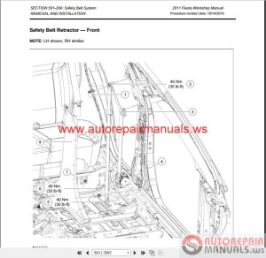 Ford Fiesta 2011 Workshop Manual & Wiring Diagrams | Auto