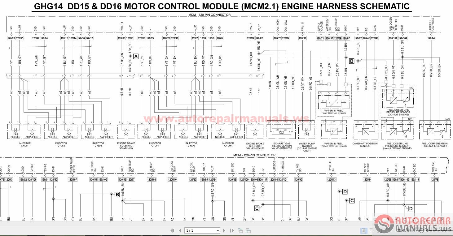 Detroit Ecm Engine Ke Wiring, Detroit, Free Engine Image