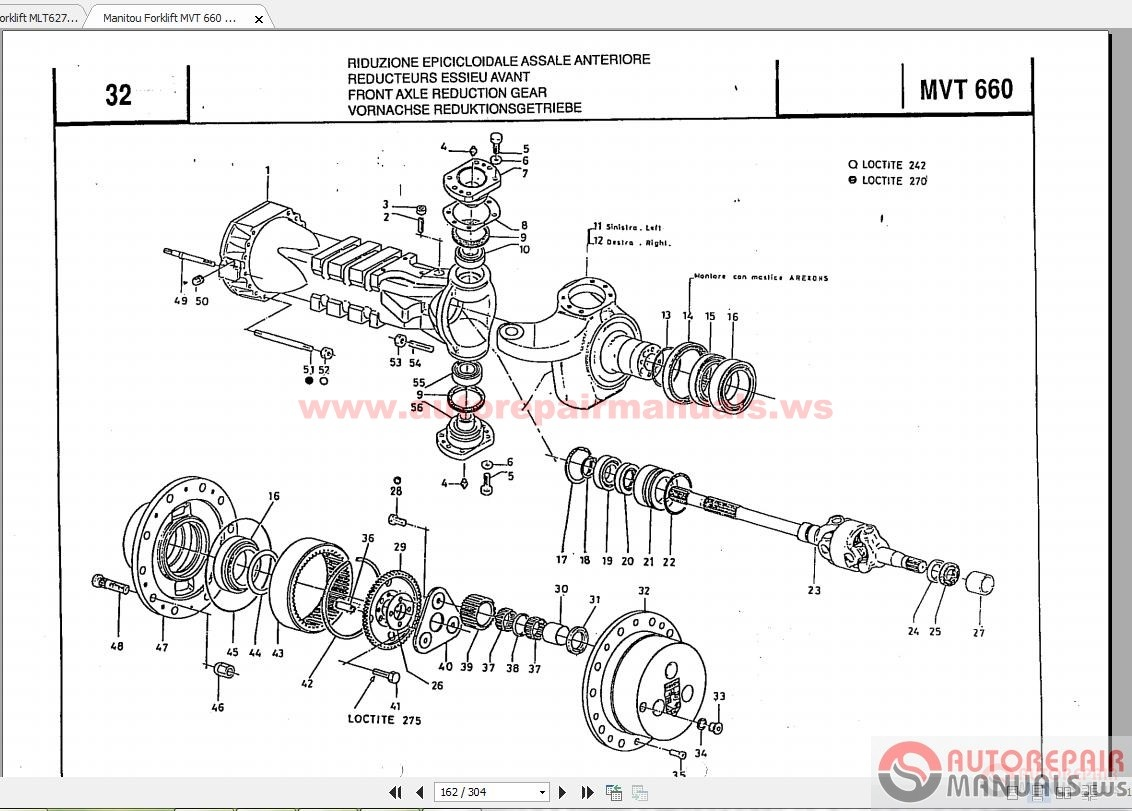 manitou forklift parts manual