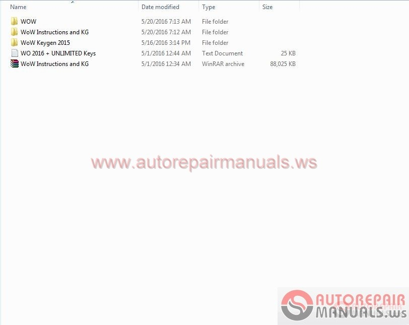 Auto Repair Manuals: Wurth WoW 5.00.12 [2016] Full