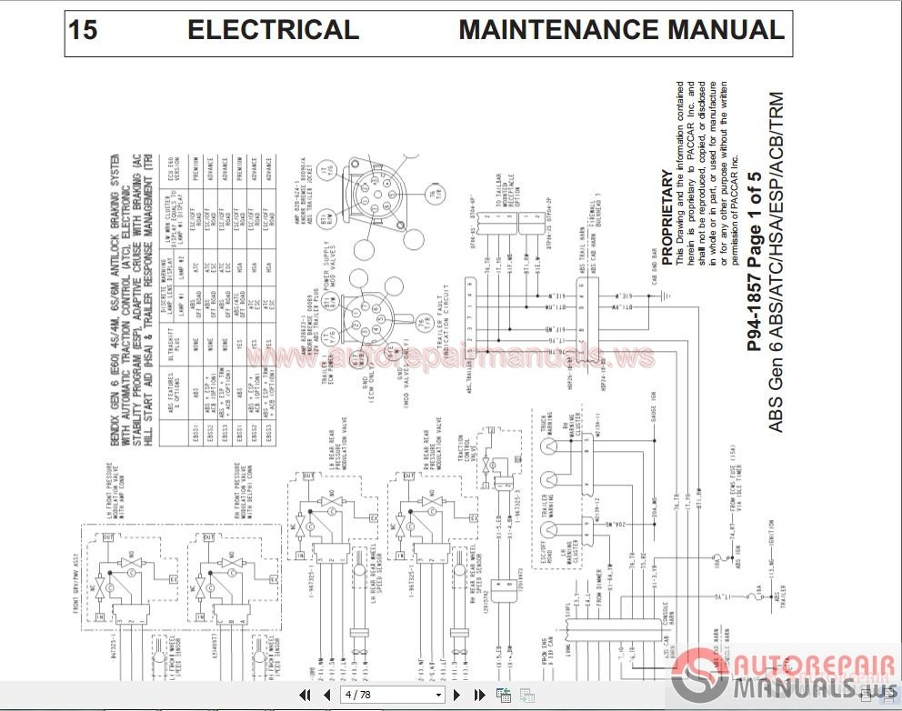 paccar wire diagram kenworth t wiring diagram images