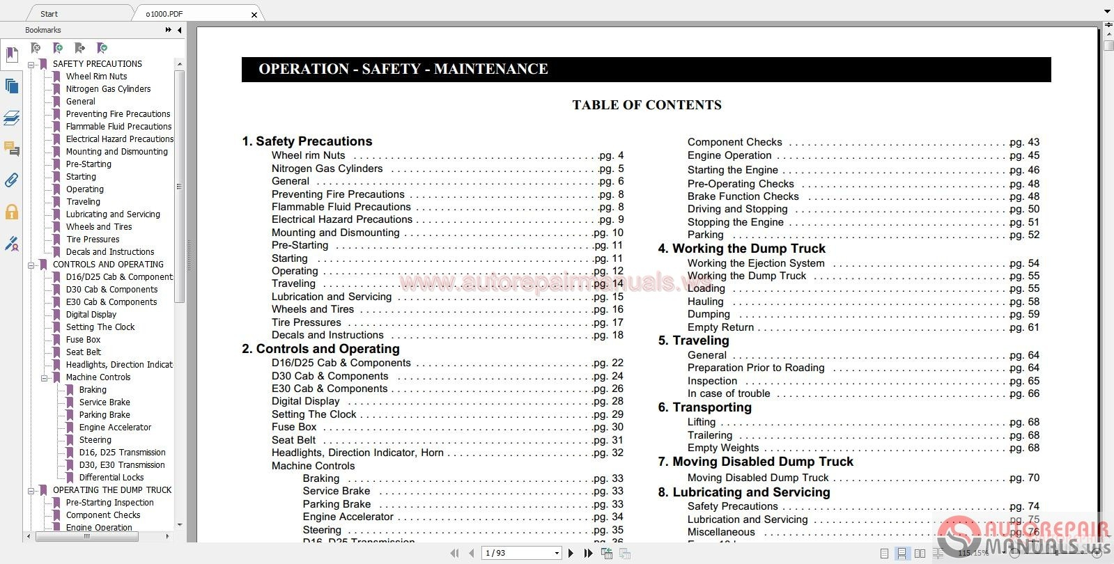 Auto Repair Manuals Linkbelt Full Shop Manual Part