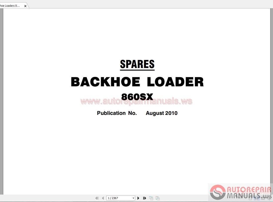 Terex Backhoe Loaders 860sx Part Manual