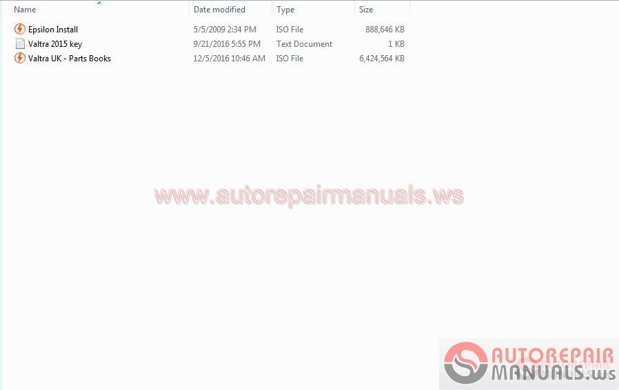 Valtra UK Parts Books [09.2016] Full Keys + Instruction