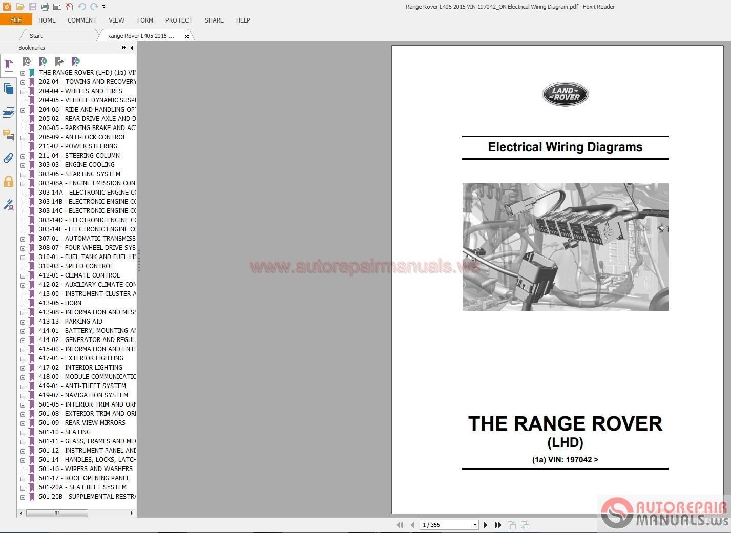hight resolution of range rover l405 2015 vin 197042 on electrical wiring diagram auto 2000 range rover hse wiring diagram range rover hse wiring diagram