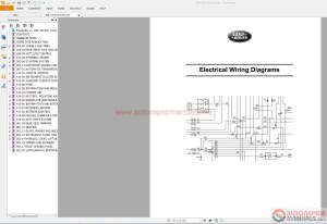 Land Rover  Range Rover Electrical Wiring Diagram Guides