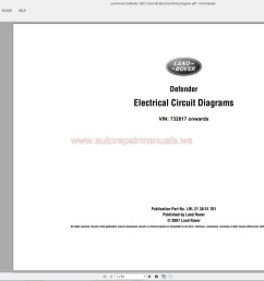land rover defender 2007 l316 lhd electrical wiring diagram auto [ 1763 x 1042 Pixel ]