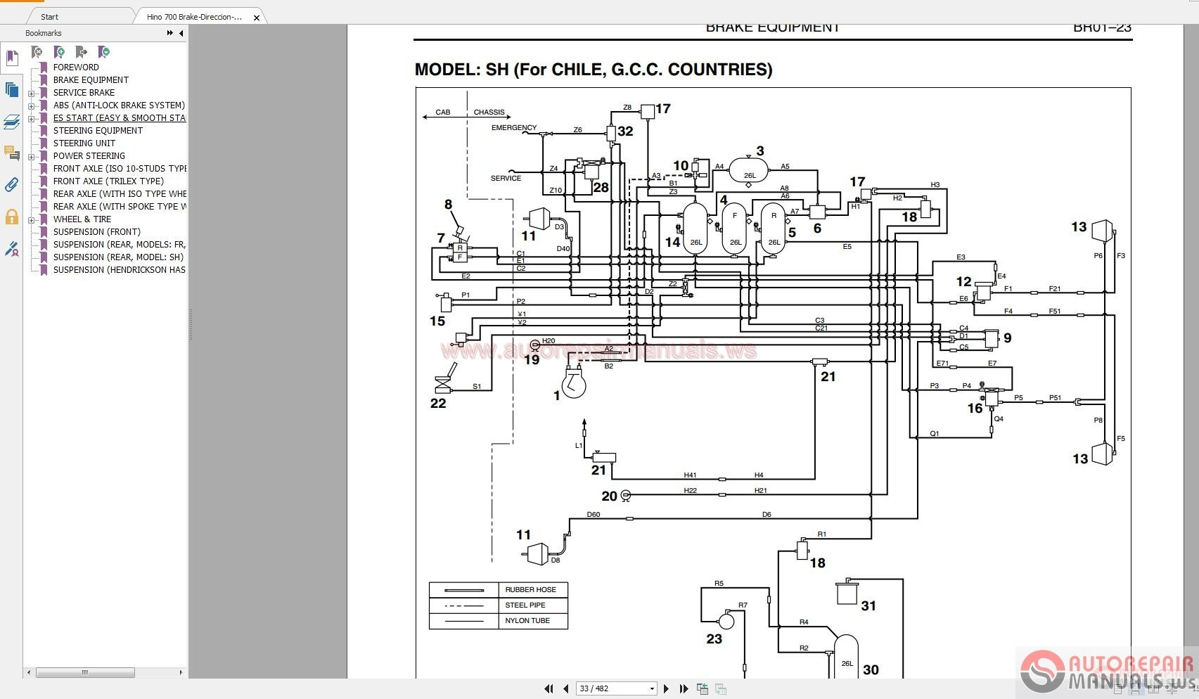 hino wiring diagram schematic 6 pin trailer connector box truck