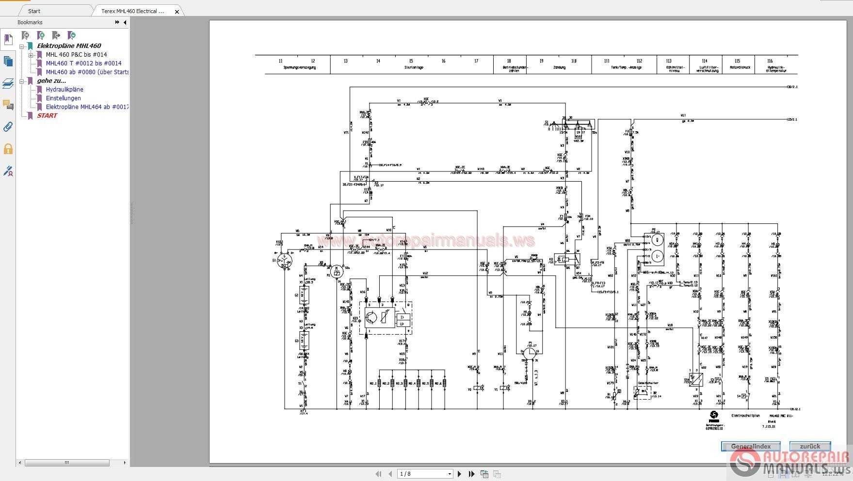 Terex Mhl460 Electrical Diagram