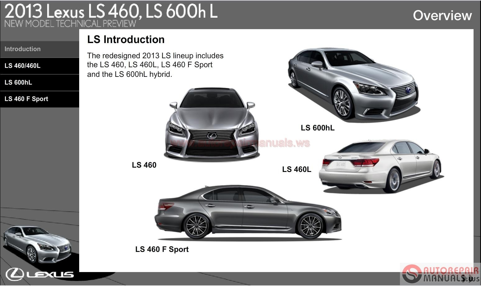 Lexus Ls460 Ls460hl New Model Technical Preview
