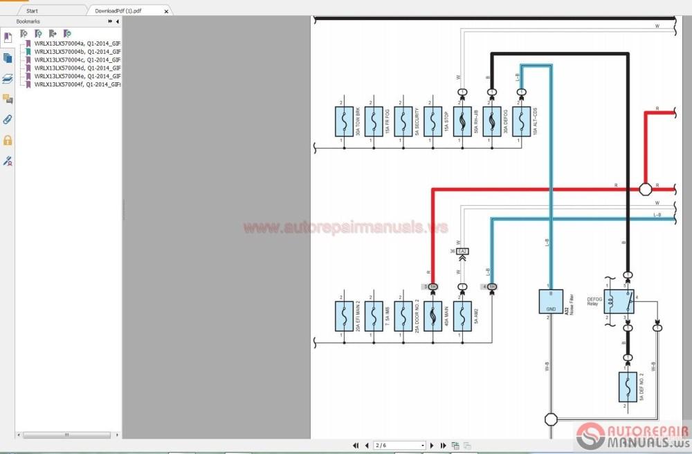 medium resolution of lexus lx570 5 7l 2015 wiring diagram