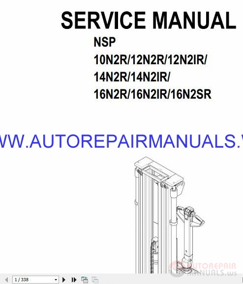 Auto Repair Manuals: Cat Forklifts Warehouse NSP10N2R Manual