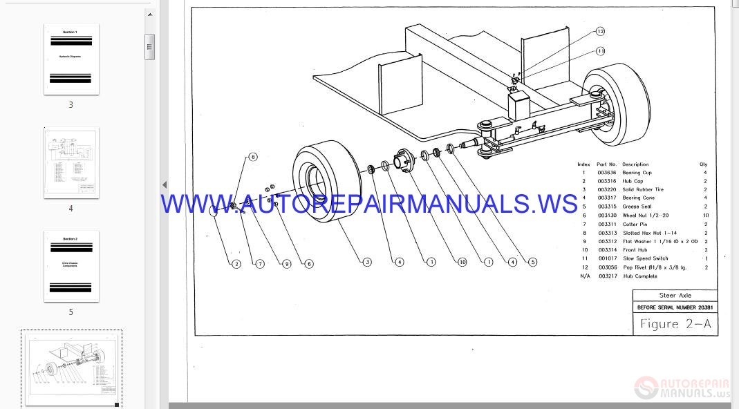 Auto Repair Manuals: StratoLift Parts Manual