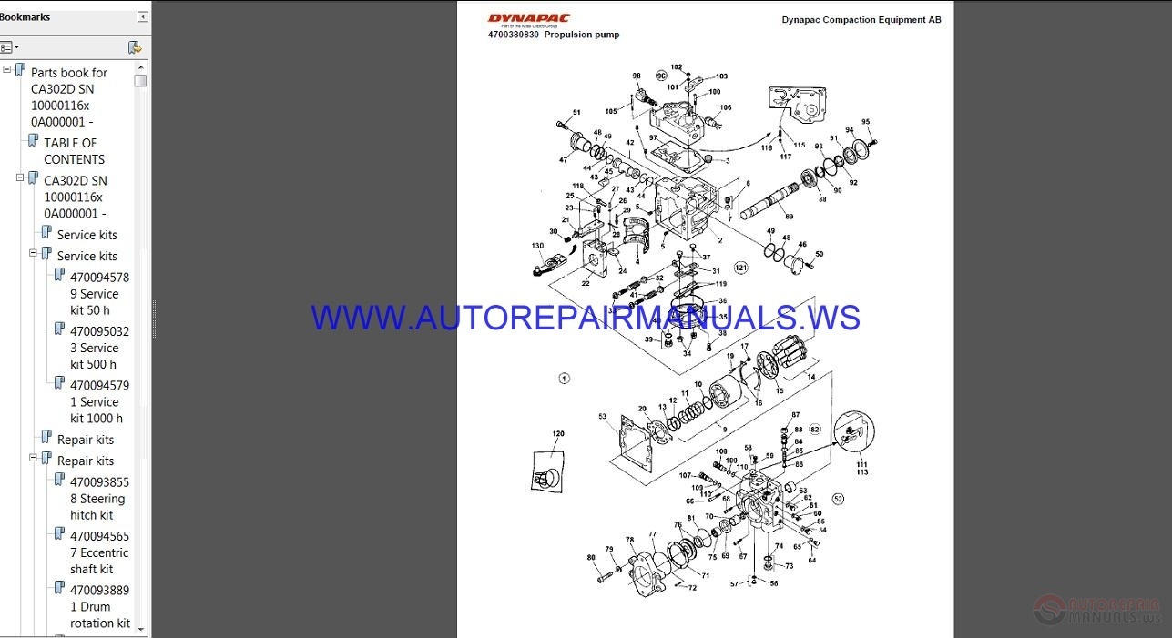 hight resolution of auto repair manuals dynapac full set spare parts catalogue dvd asv wiring diagram dynapac lg500 wiring diagram