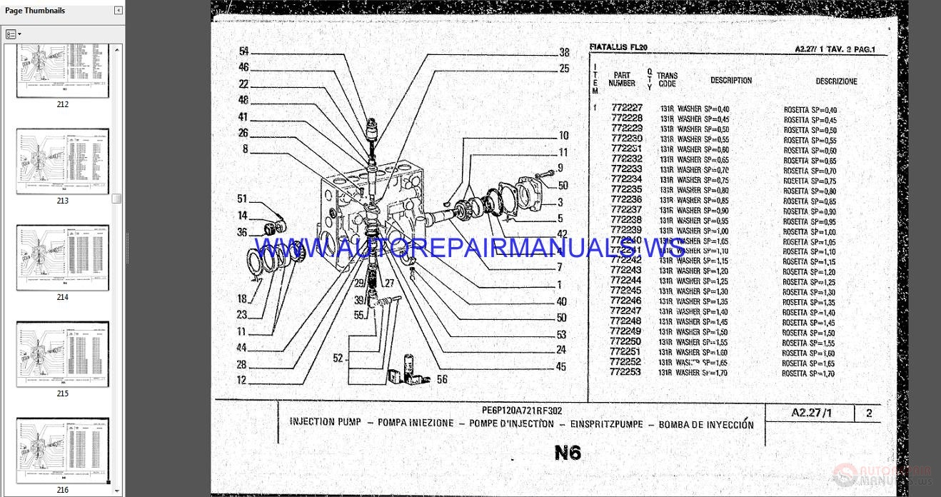 Auto Repair Manuals: Fiat Allis Wheel loader Full Set