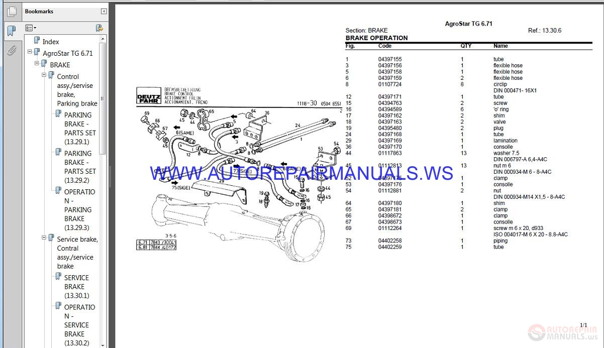 Deutz Fahr Agrotron 90 100 110 Operating Manual
