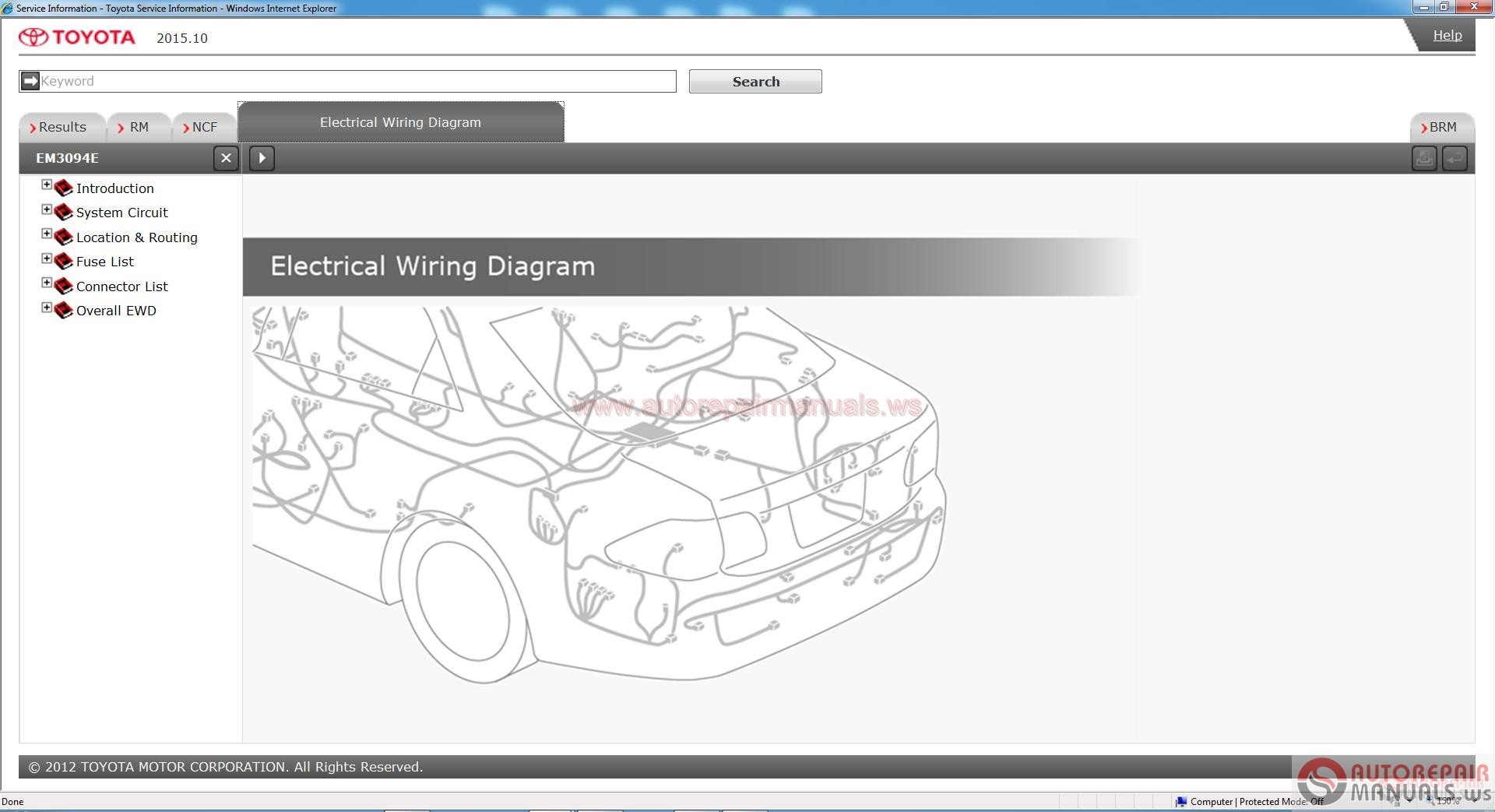Toyota Service Manual, Workshop Manual, Wiring Diagram DVD